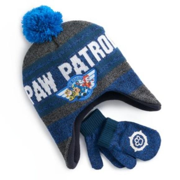 ff4454412eeaf Nickelodeon - Paw Patrol Hat   Mitten Set (NWT)